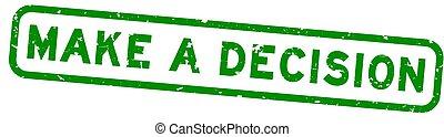 緑, ゴム, 広場, シール, 決定, グランジ, 白, 単語, 作りなさい, 切手, 背景