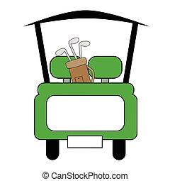 緑, ゴルフ カート