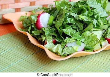 緑 サラダ, ∥で∥, ラディッシュ