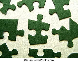 緑, ジグソーパズル小片