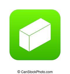 緑, セメント, ブロック, アイコン