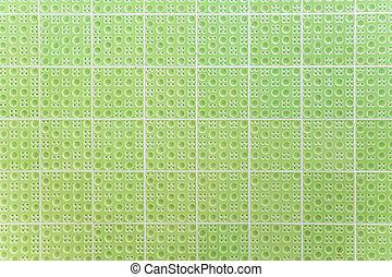 緑, タイル, 手ざわり
