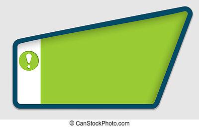 緑, テキスト, フレーム, ∥で∥, 叫び 印