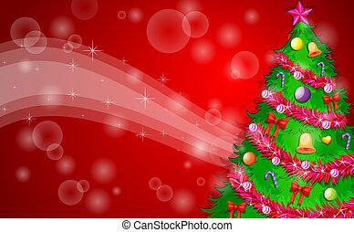 緑, デザイン, 木, クリスマス, 赤