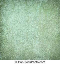 緑, プラスター, グランジ, 背景, textured