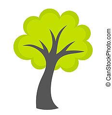 緑, ベクトル, 木