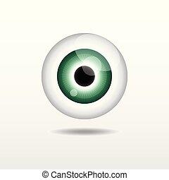 緑, ベクトル, 目
