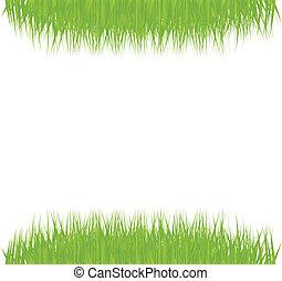 緑, ベクトル, 草, 背景