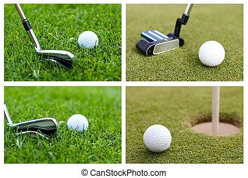 緑, ボール, ゴルフ, コレクション