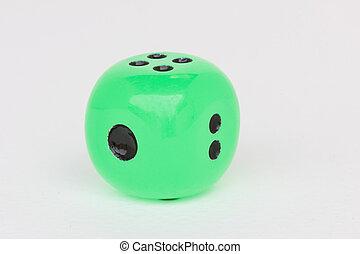 緑, ラウンド, さいころ