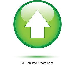 緑, 上向き矢印