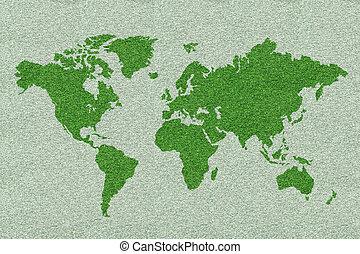 緑, 世界地図