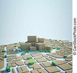 緑, 分配, 輸送, ロジスティクス