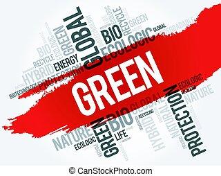 緑, 単語, 雲