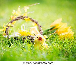 緑, 卵, 草, イースター