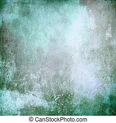 緑, 古い, 背景, 手ざわり, 型