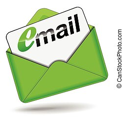 緑, 封筒, 電子メール