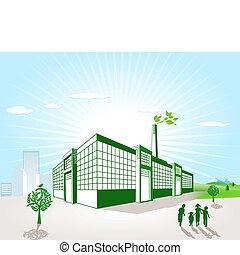 緑, 工場