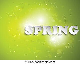 緑, 春, 背景, ∥で∥, ライト