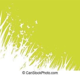 緑, 春, 背景