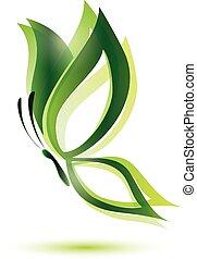 緑, 概念, エコロジー, 蝶