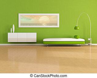 緑, 現代 生活, 部屋