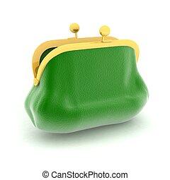 緑, 白, 財布