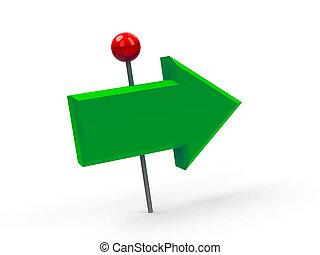 緑, 矢, pushpin