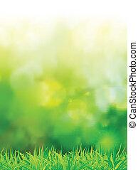 緑, 精選する, 自然, フォーカス, 背景