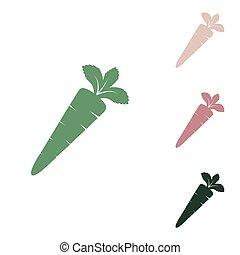 緑, 緑, ジャングル, illustration., 小さい, 砂, ニンジン, 一人一人, 白, バックグラウンド。, 印, puce, ロシア人, 砂漠, アイコン