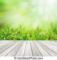 緑, 自然, 抽象的, 背景