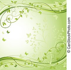 緑, 花のボーダー