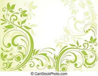 緑, 花, カード