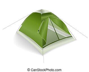 緑, 観光客, テント