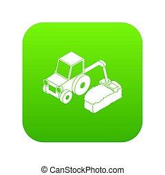 緑, 道, トラクター, アイコン