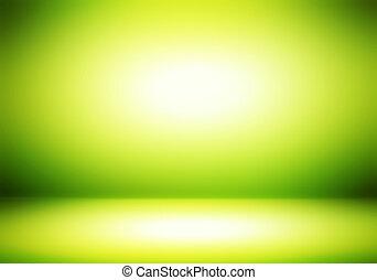 緑, 部屋, 抽象的, 背景