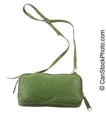 緑, 革, 財布, ∥で∥, 肩ベルト