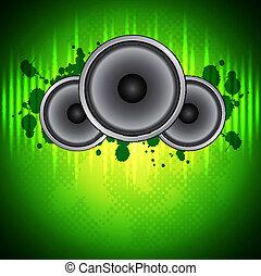 緑, 音楽, 背景
