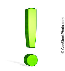 緑, 3d, 叫び 印