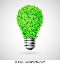 緑, bulb.