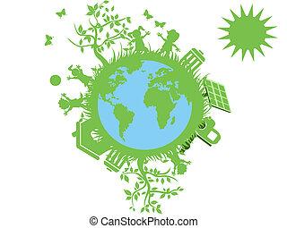 緑, eco, 地球