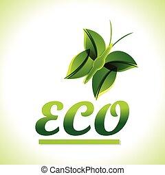 緑, eco, 背景, ベクトル