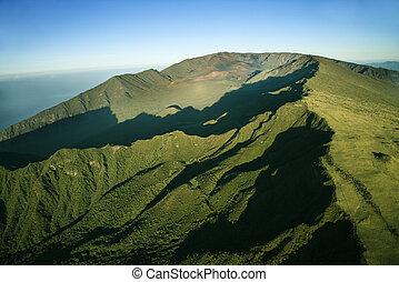 緑, maui, mountain.