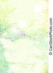 緑, summer-themed, 抽象的, 黄色, パターン, 白, background:, textured, 背景