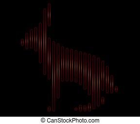 線である, 動物, イラスト, ベクトル, うさぎ, ロゴ