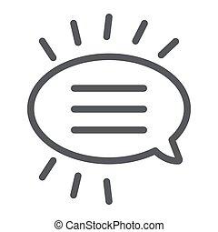 線である, 印, パターン, 線, バックグラウンド。, ベクトル, スピーチ, チャット, グラフィックス, アイコン, 白, 対話, 泡, メッセージ