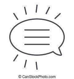 線である, 印, パターン, 線, バックグラウンド。, ベクトル, スピーチ, 薄くなりなさい, チャット, グラフィックス, アイコン, 白, 対話, 泡, メッセージ