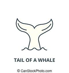 線である, 概念, シンボル, 印, 尾, ベクトル, アイコン, 線, クジラ, アウトライン