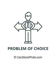 線である, 概念, シンボル, 選択, 印, ベクトル, アイコン, 問題, 線, アウトライン
