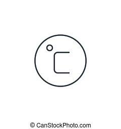 線である, 程度, シンボル, ∥セ氏∥, ベクトル, 薄くなりなさい, icon., 線